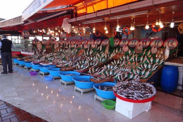 Рыбный рынок Кумкапы Стамбул