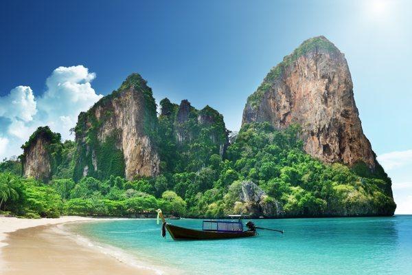 Пляж Рейли Краби Таиланд