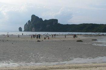 Пляж Пхи Пхи Таиланд отлив